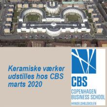 Keramiske værker udstilles hos CBS i marts 2020