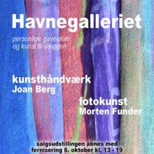 Soloudstilling i Havnegalleriet i Dragør 2017