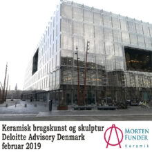 Keramiske skulpturer og brugskunst udstilles hos Deloitte i februar 2019
