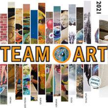 Udstilling i Brøndsalen med Team-Art, 2021